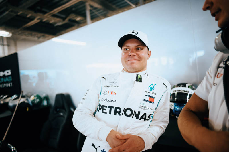 Bottas reports back for duty at Mercedes