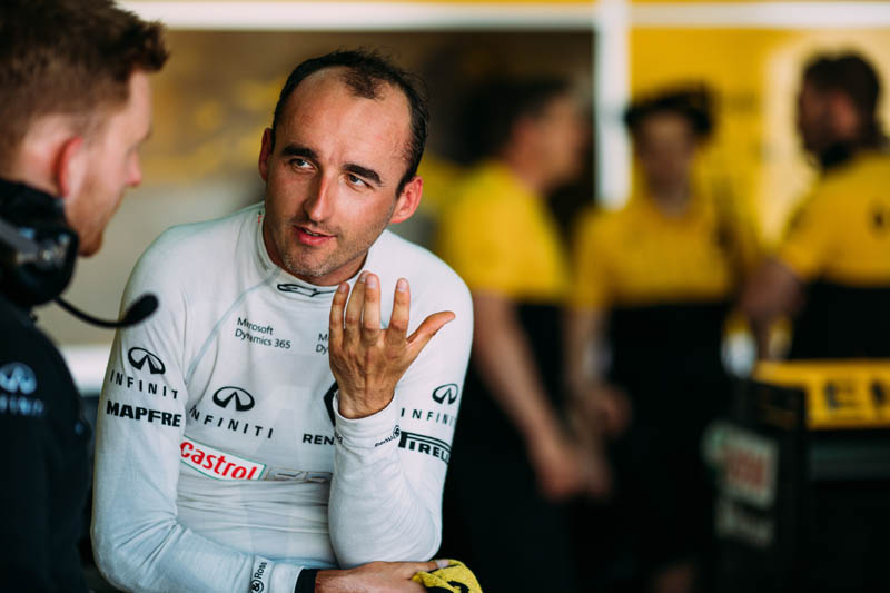 Kubica completes private F1 test with Renault
