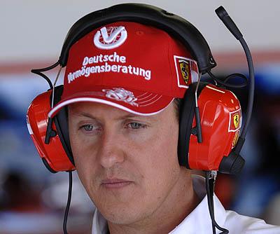 Image result for sad Michael Schumacher