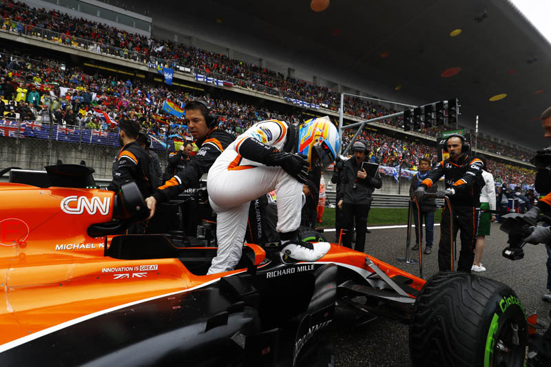 Chinese GP Friday practice disrupted by bad weather