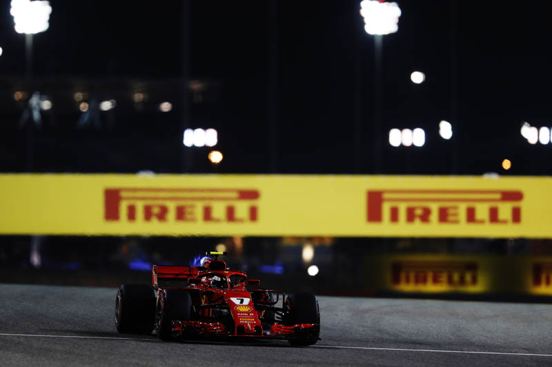 Vettel wins Bahrain GP, Raikkonen's vehicle  hits mechanic