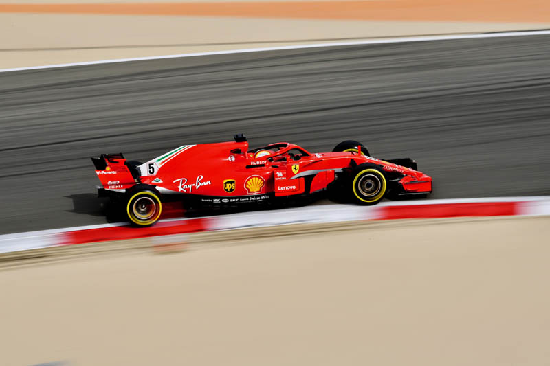 Vettel holds off charging Bottas in Bahrain