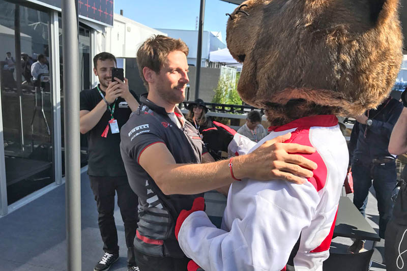 Groundhog takes out Grosjean's new front wing