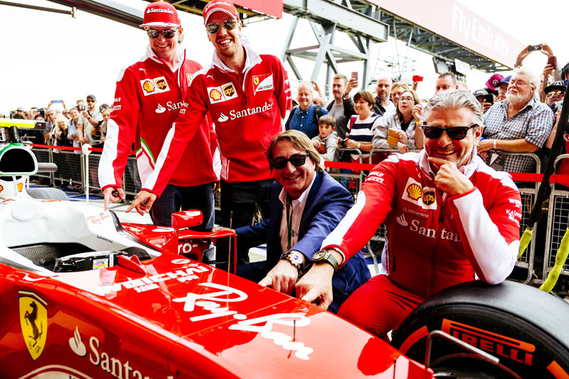 50195bc56c Ferrari and Luxottica Group have signed a sponsorship agreement based on  which the Ray-Ban brand will appear on the SF-16H from the British Grand  Prix in ...