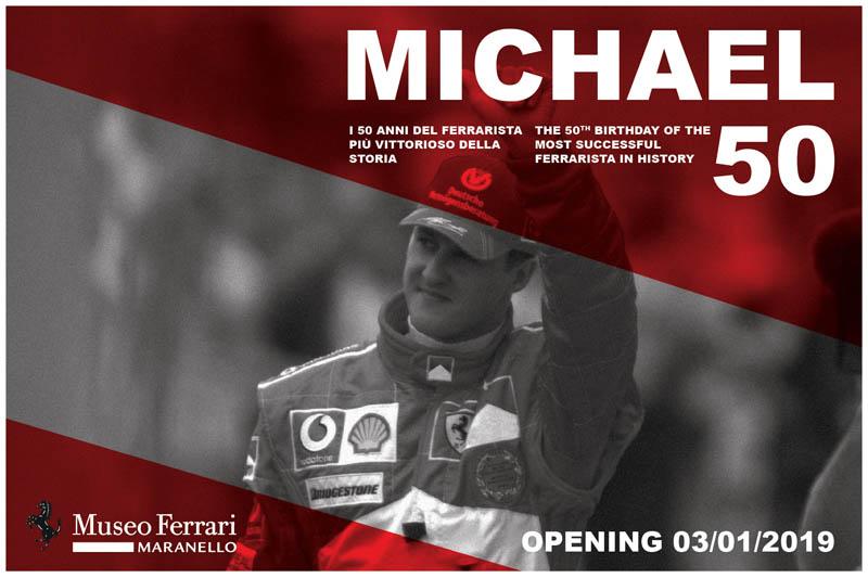 Ferrari exhibition to mark Schumacher's 50th birthday