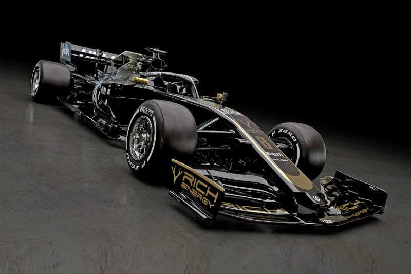 In a surprise move Haas has not only revealed its 2019 livery... but the car with which it will contest the new season the VF-19