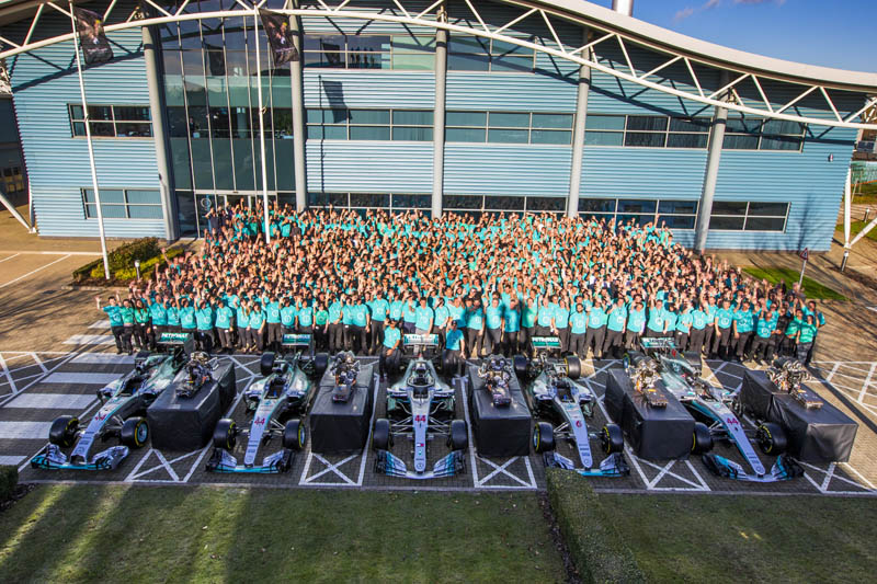 Mercedes tribute to 'exceptional' Lewis Hamilton after F1 constructors' title win