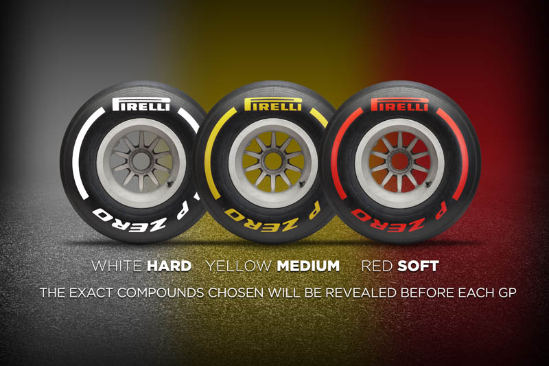 Pirelli reveals colour range for 2019 tyres