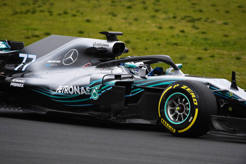 Valtteri Bottas quickest at midpoint of chilly Tuesday F1 test