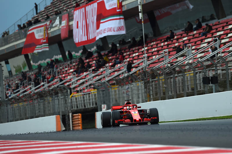Formula 1 Testing - Vettel Downplays Ferrari's Blistering Pace